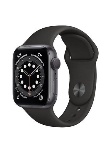 Apple AppleWatch Series 6 Gps 44 Mm Siyah Rengi Alüminyum Kasa Ve Siyah Spor Siyah